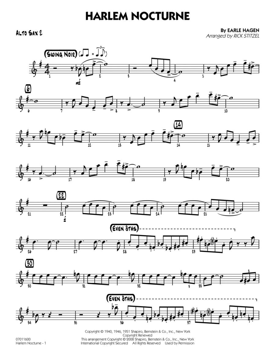 Harlem Nocturne - Alto Sax 2