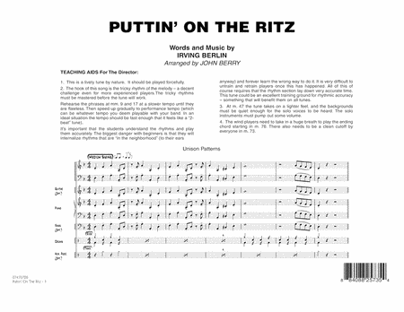 Puttin' On The Ritz - Full Score