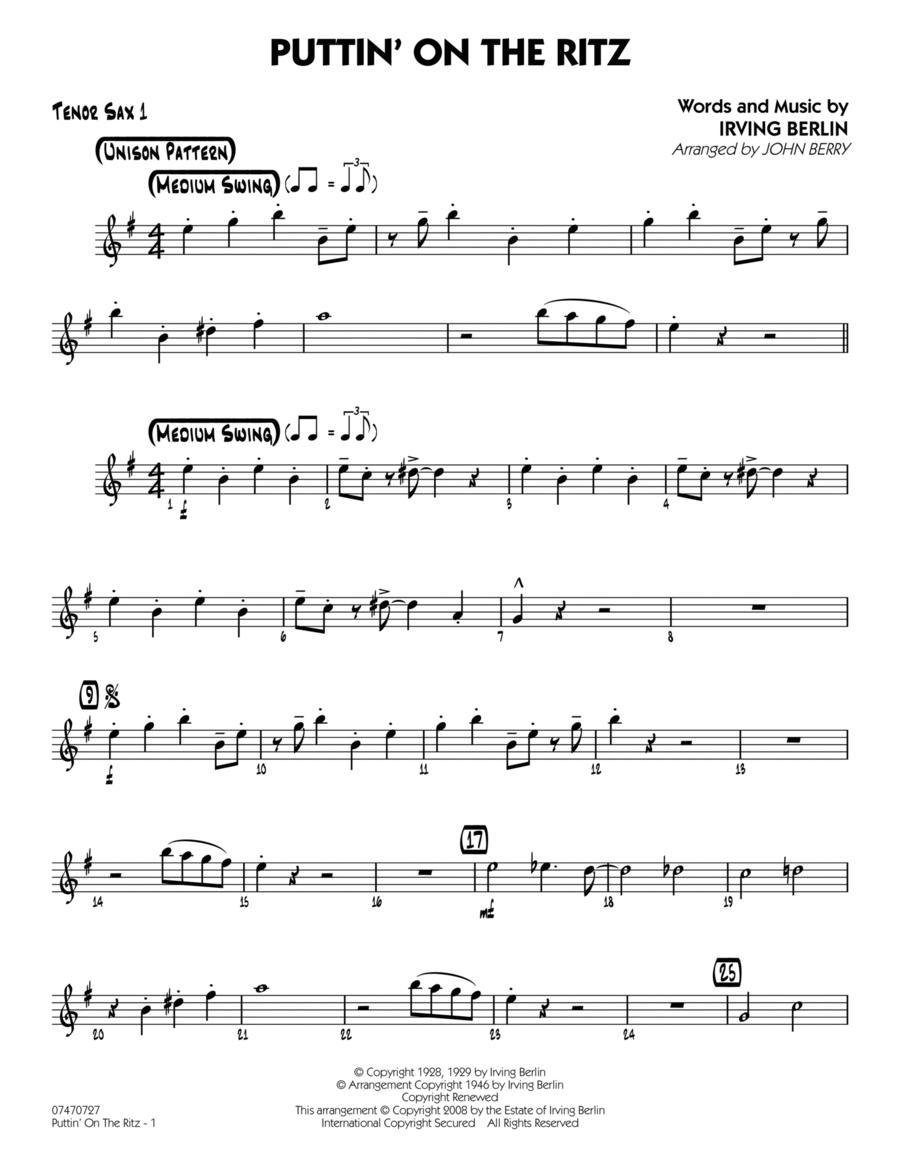 Puttin' On The Ritz - Tenor Sax 1
