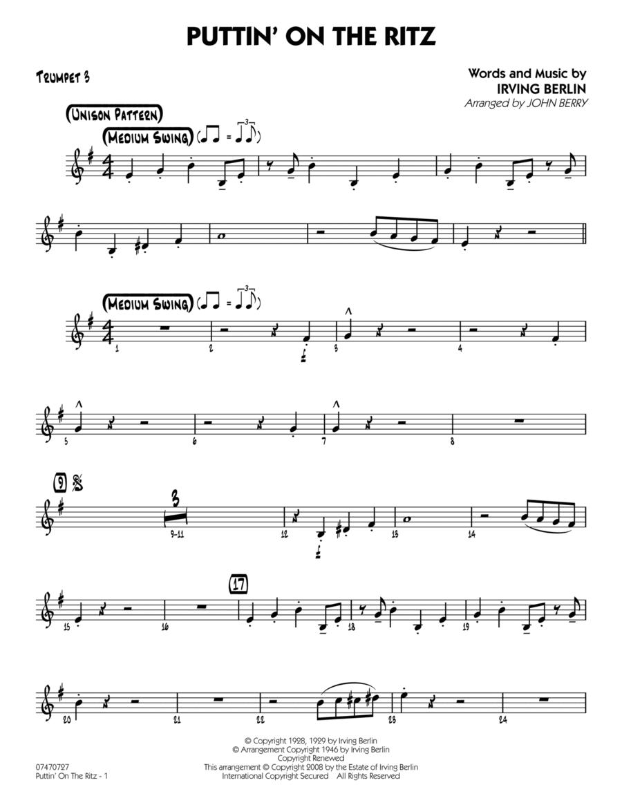 Puttin' On The Ritz - Trumpet 3