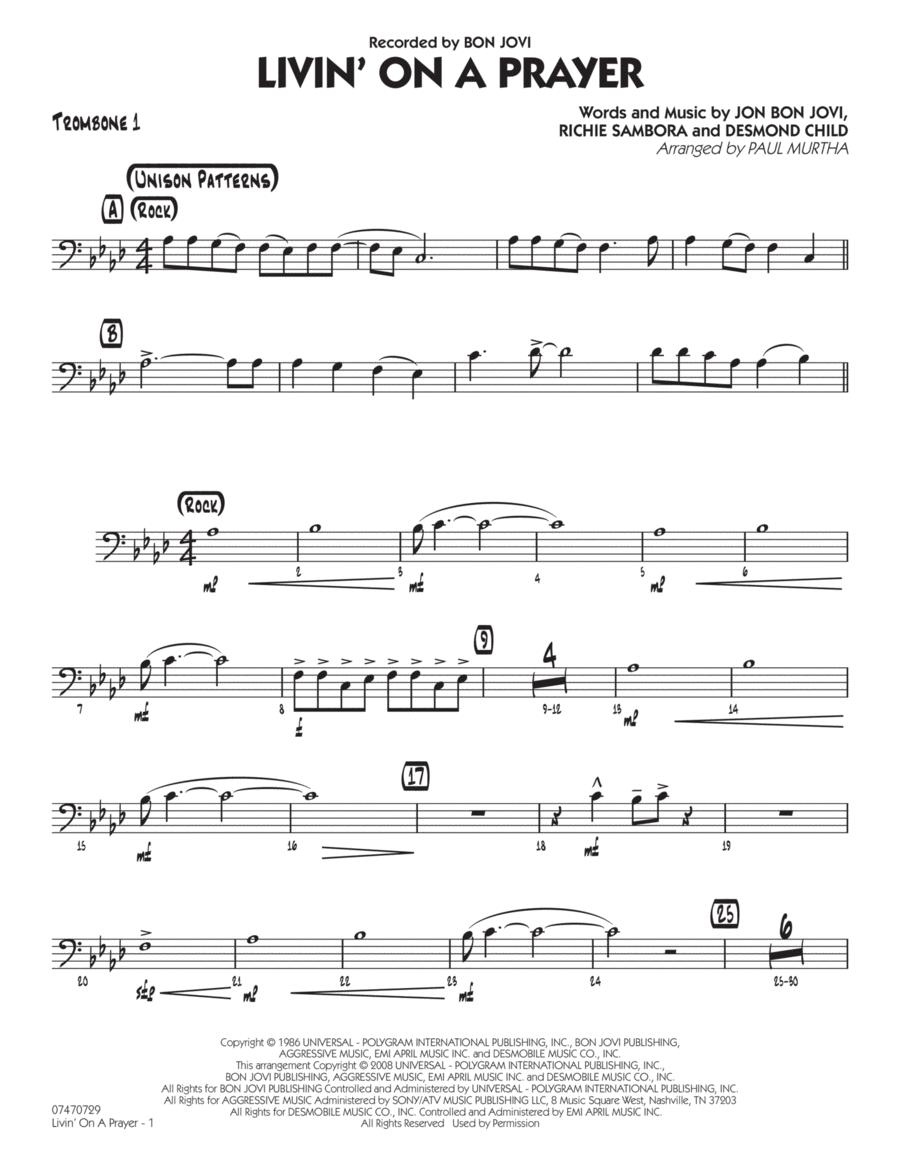 Livin' On A Prayer - Trombone 1