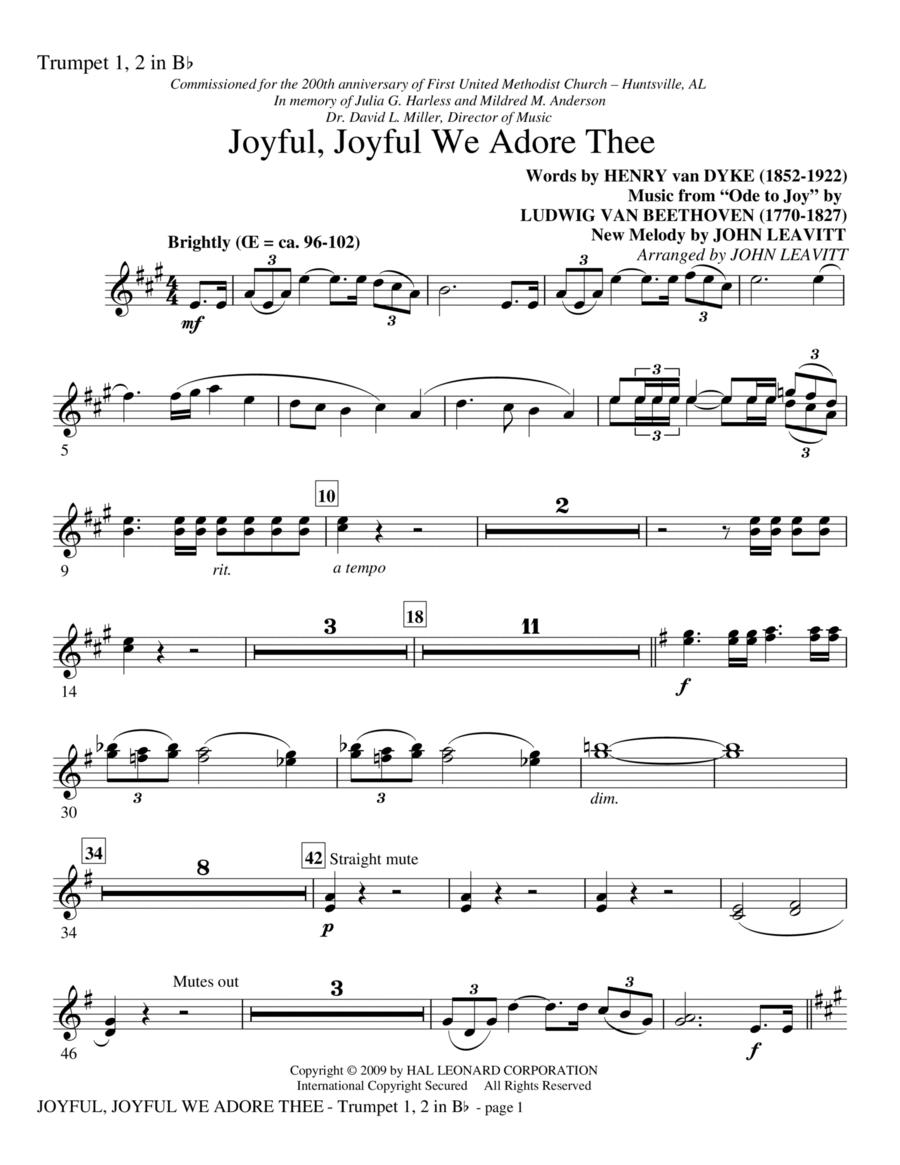 Joyful, Joyful, We Adore Thee - Trumpet 1 & 2 in Bb