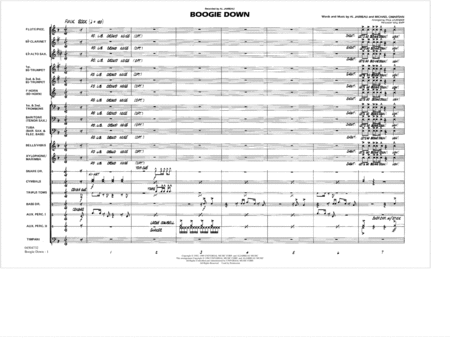 Boogie Down - Conductor Score (Full Score)