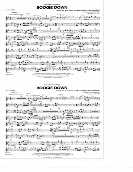 Boogie Down - Bb Clarinet