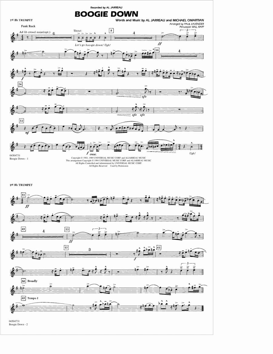 Boogie Down - 1st Bb Trumpet
