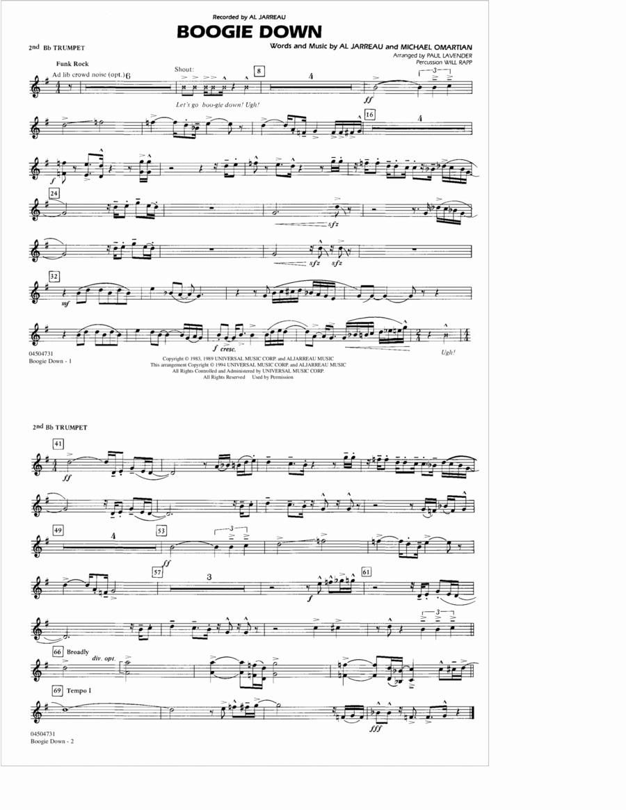 Boogie Down - 2nd Bb Trumpet