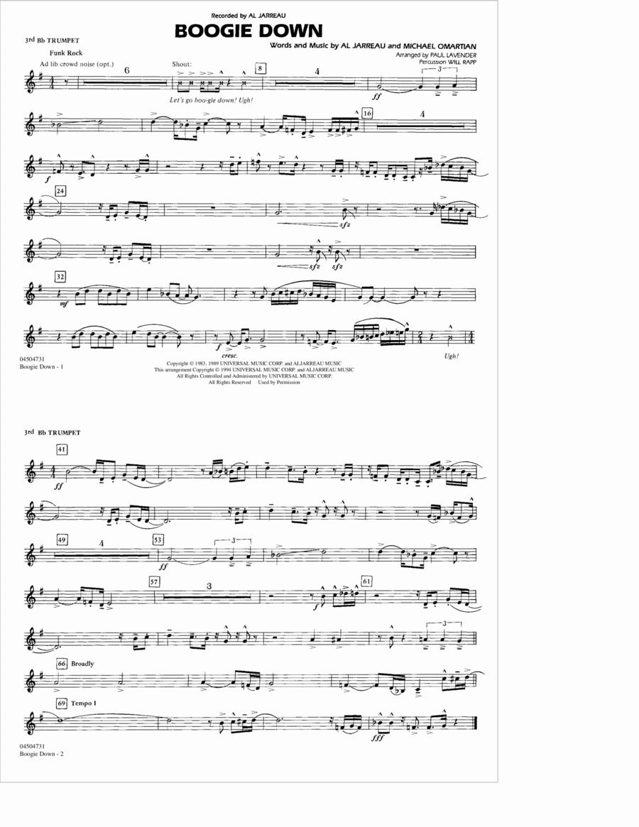 Boogie Down - 3rd Bb Trumpet