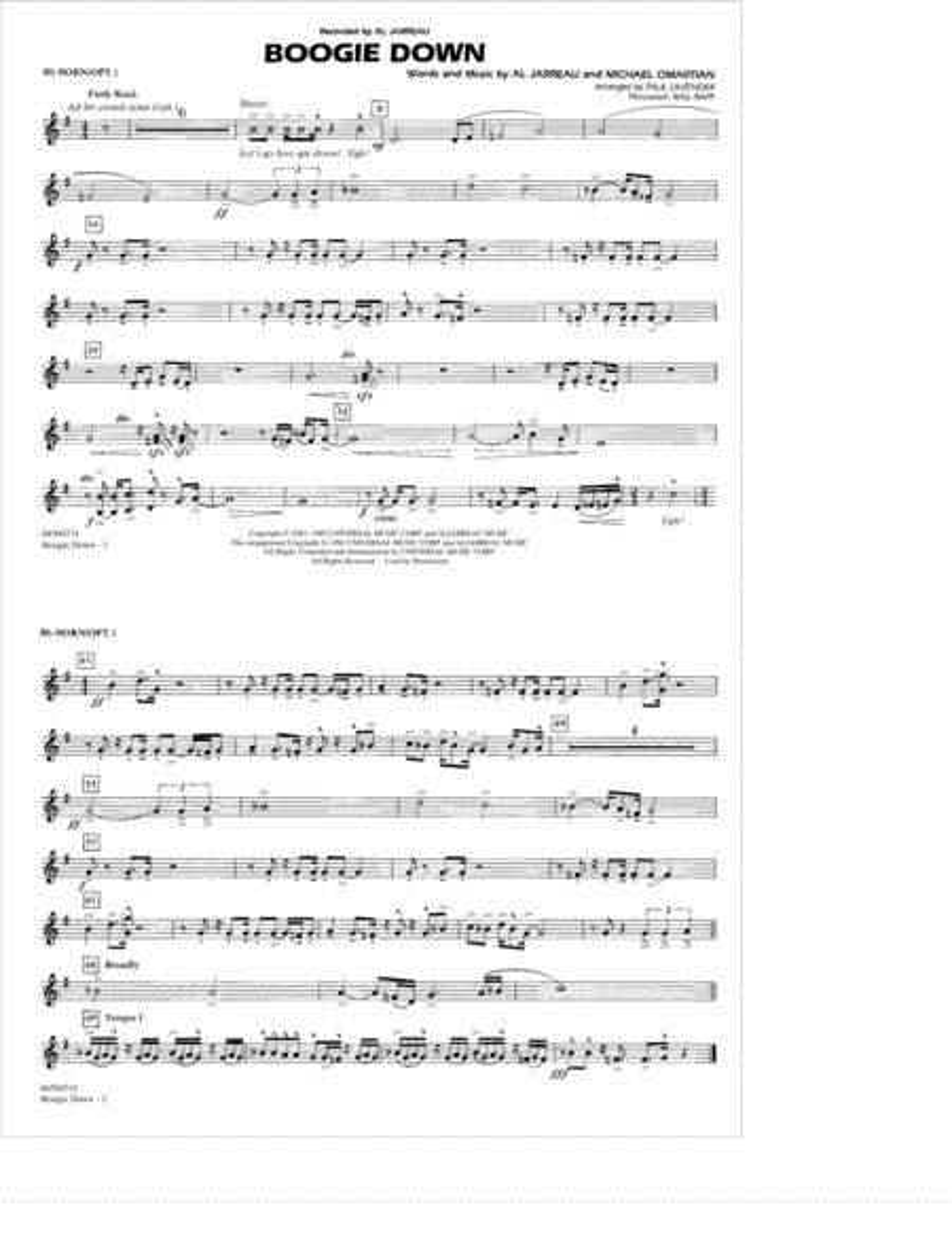 Boogie Down - Bb Horn/Flugelhorn