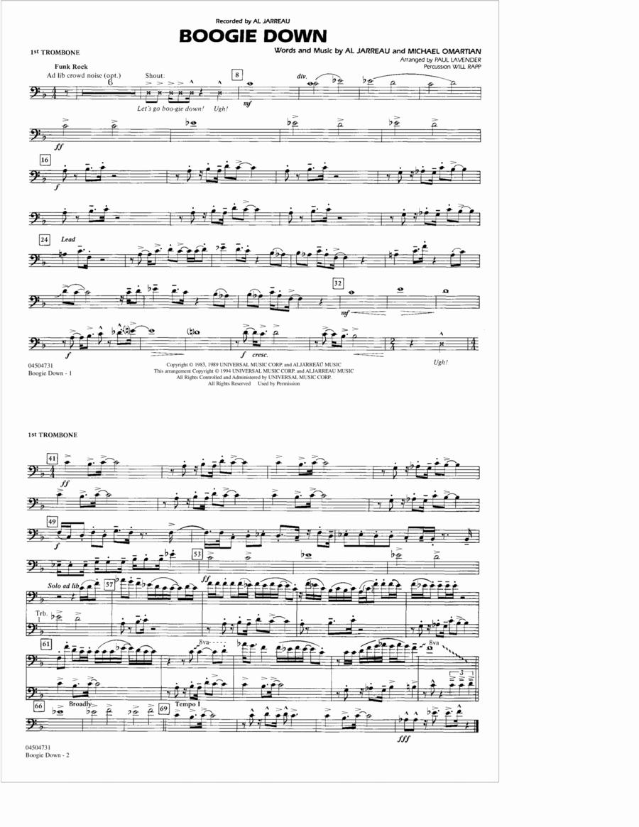 Boogie Down - 1st Trombone