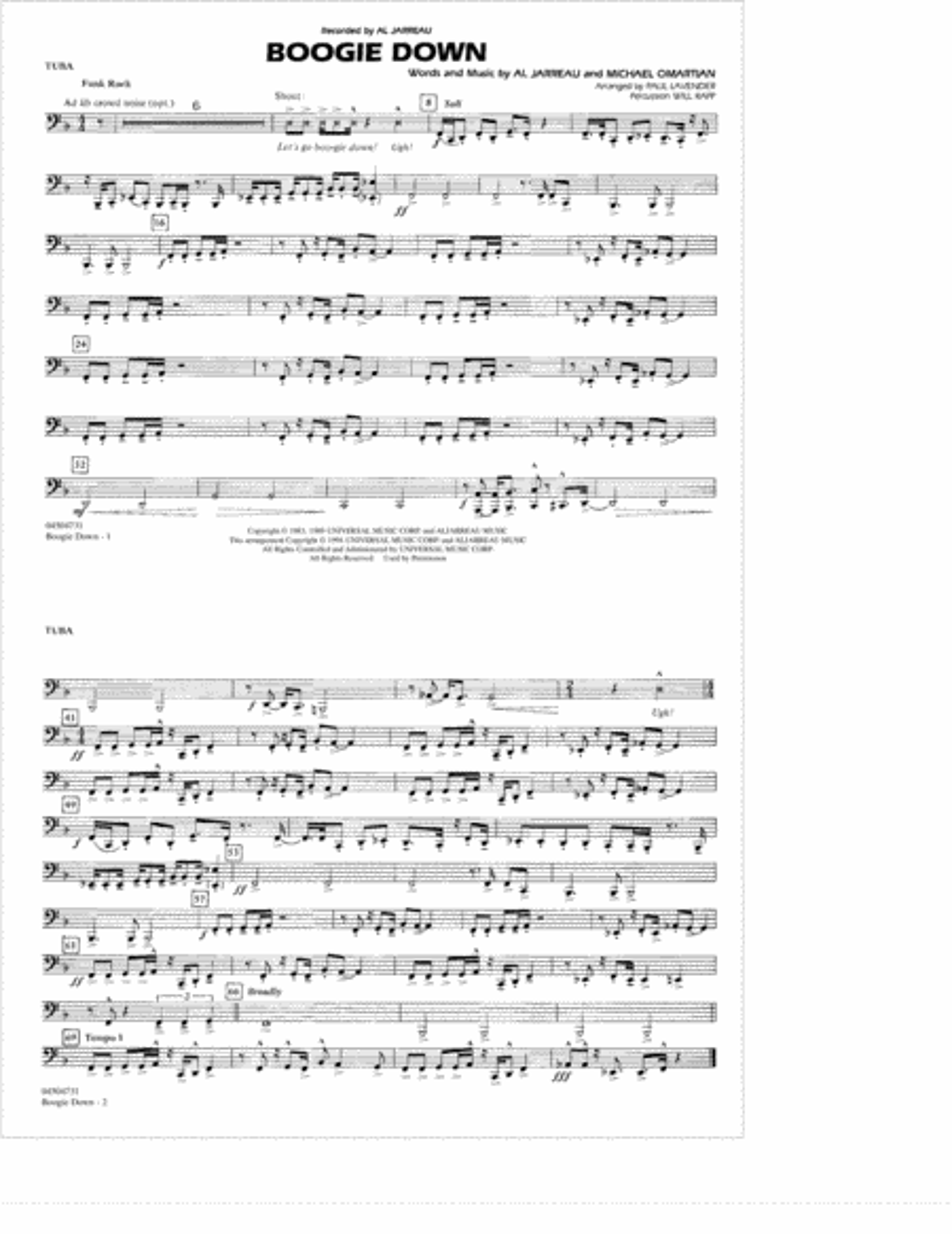 Boogie Down - Tuba