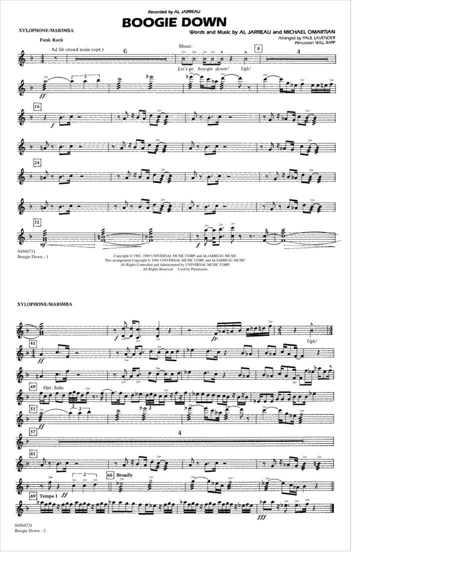 Boogie Down - Xylophone/Marimba