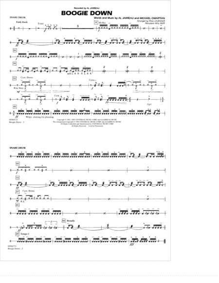 Boogie Down - Snare Drum