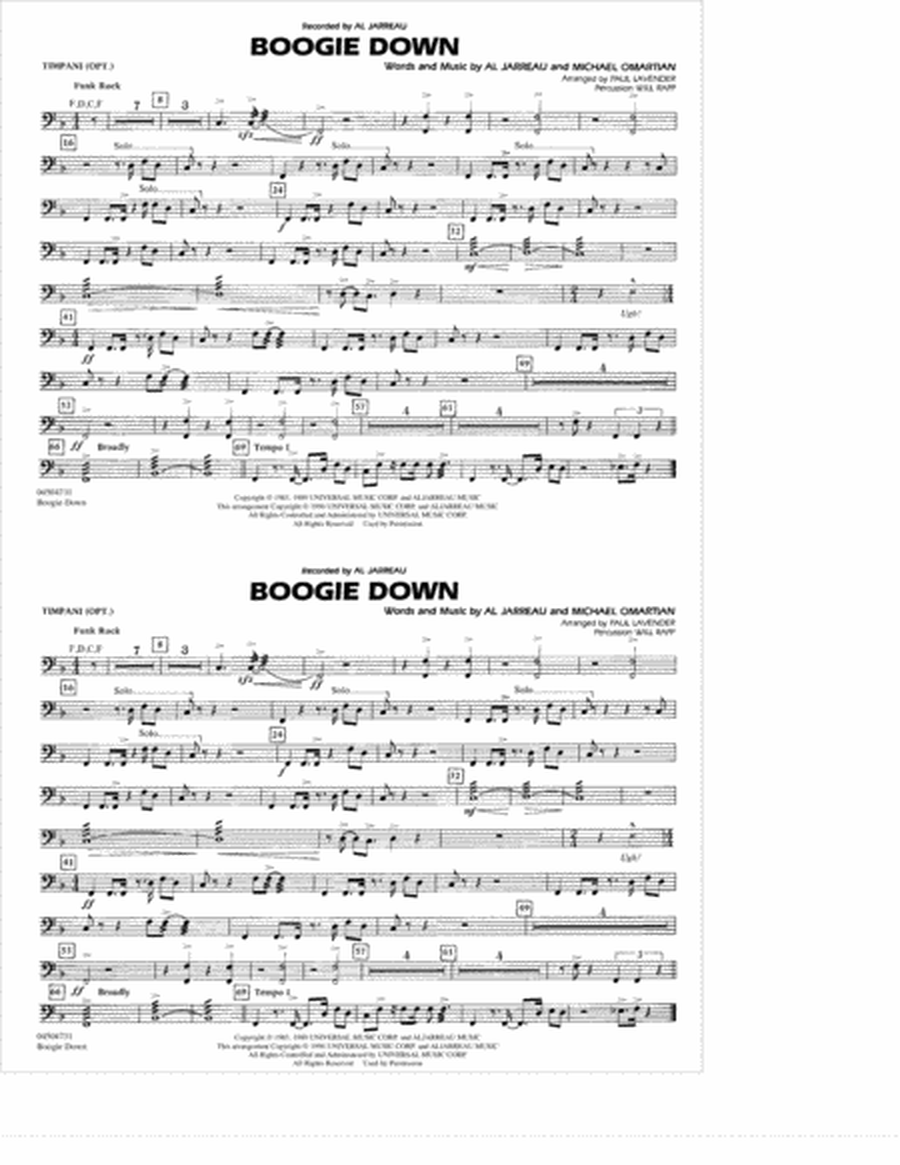 Boogie Down - Timpani