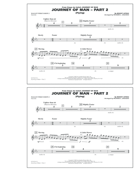 Journey of Man - Part 2 (Flying) - Mallet Percussion 2