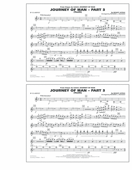 Journey of Man - Part 3 (Youth) - Bb Clarinet