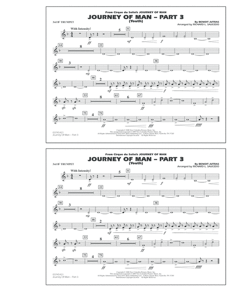 Journey of Man - Part 3 (Youth) - 3rd Bb Trumpet