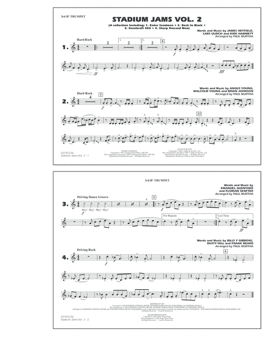 Stadium Jams - Vol. 2 - 3rd Bb Trumpet