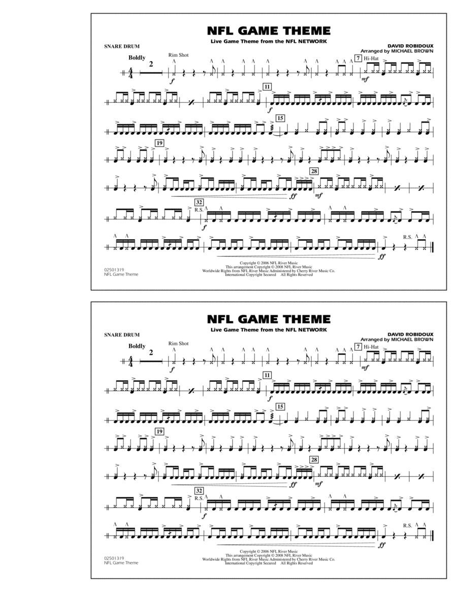 NFL Game Theme - Snare Drum