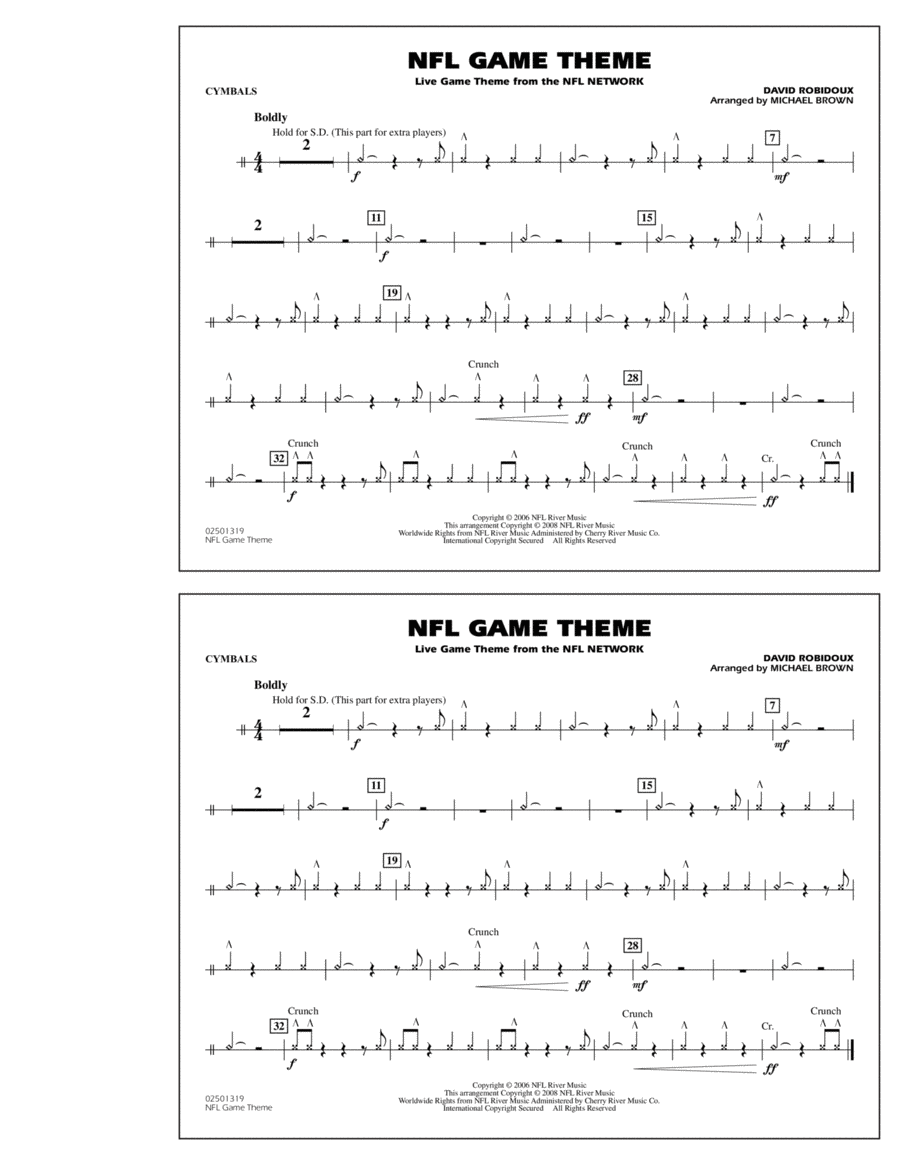 NFL Game Theme - Cymbals