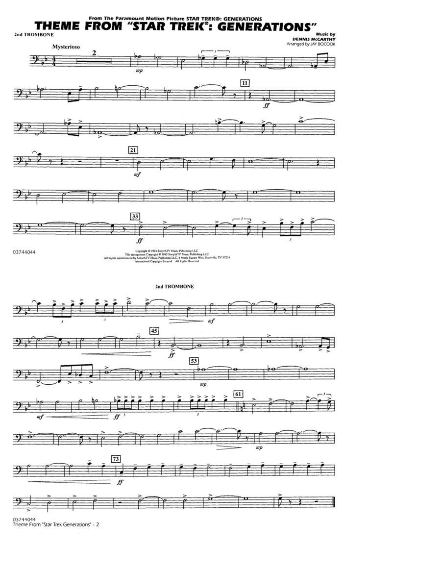 Theme from Star Trek: Generations - 2nd Trombone
