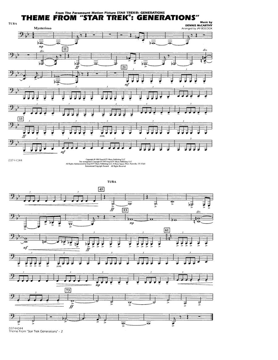 Theme from Star Trek: Generations - Tuba