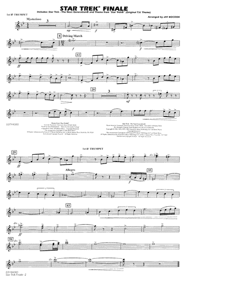 Star Trek Finale - 1st Bb Trumpet