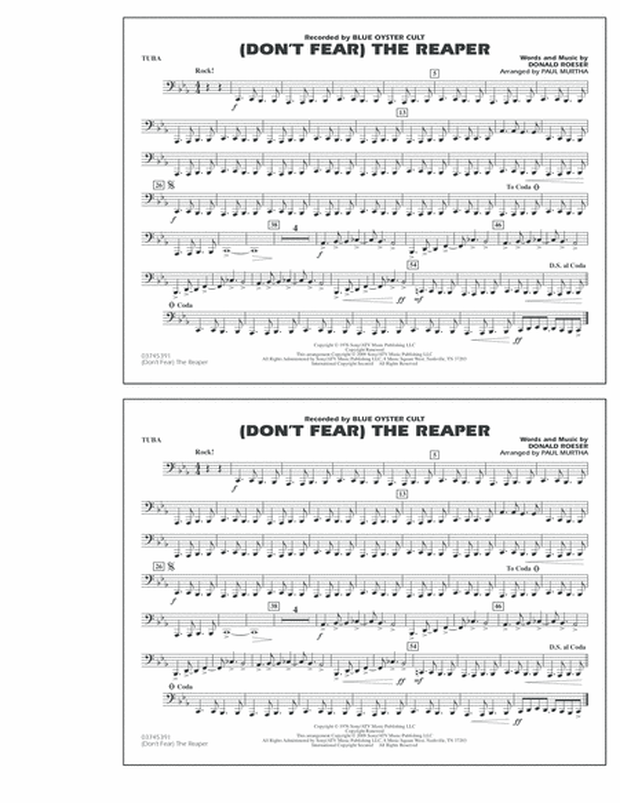 (Don't Fear) The Reaper - Tuba