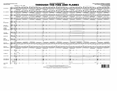Through the Fire and Flames - Full Score