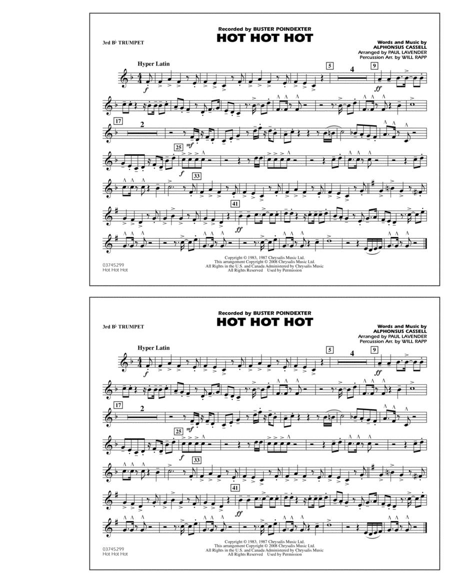 Hot Hot Hot - 3rd Bb Trumpet