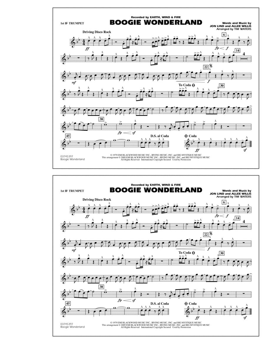 Boogie Wonderland - 1st Bb Trumpet