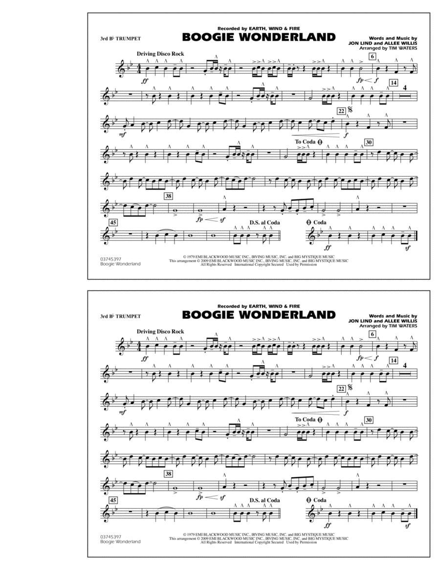 Boogie Wonderland - 3rd Bb Trumpet