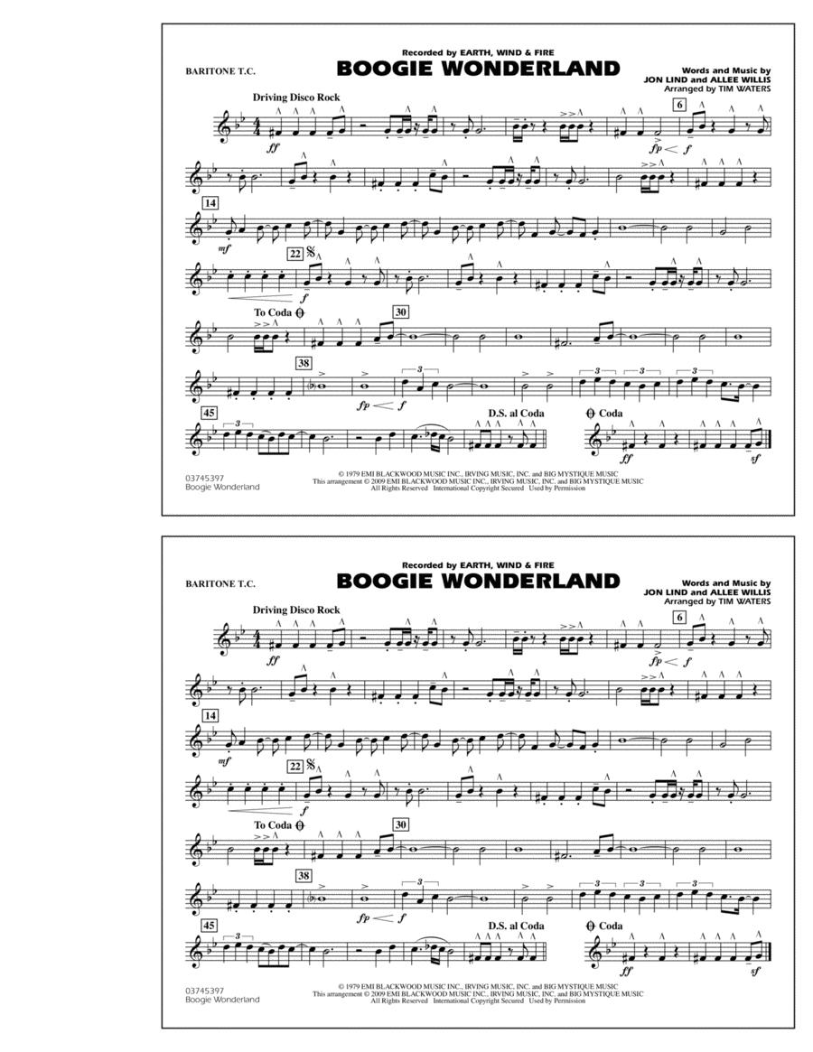 Boogie Wonderland - Baritone T.C.