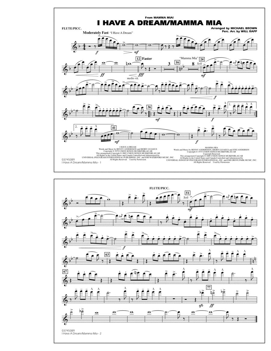 I Have a Dream/Mamma Mia! - Flute/Piccolo
