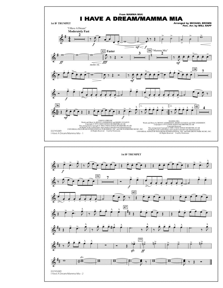 I Have a Dream/Mamma Mia! - 1st Bb Trumpet