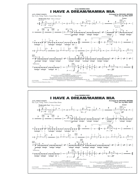 I Have a Dream/Mamma Mia! - Aux Percussion
