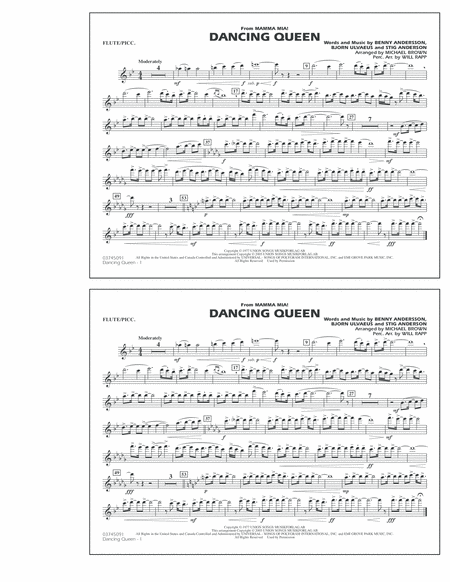 how to play dancing queen on the flute