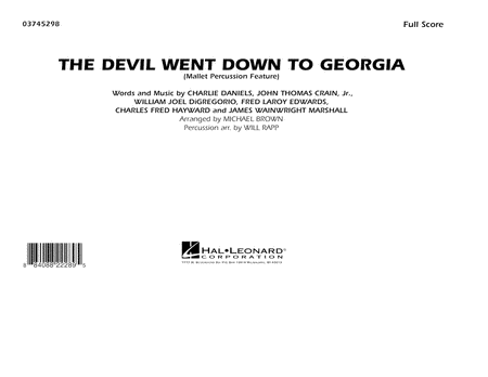 The Devil Went Down to Georgia - Full Score