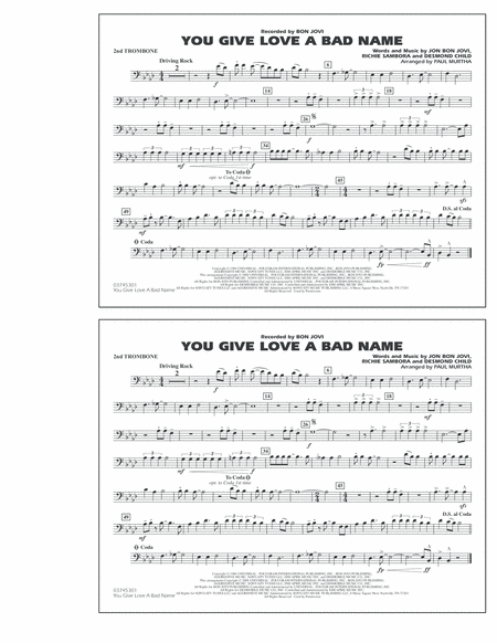 You Give Love a Bad Name - 2nd Trombone