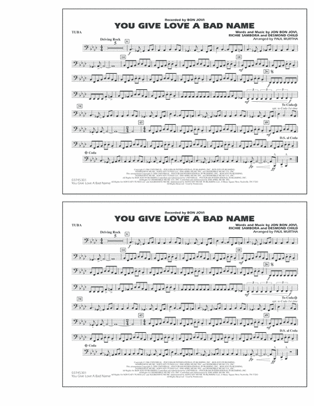 You Give Love a Bad Name - Tuba