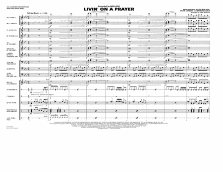 Livin' on a Prayer - Full Score