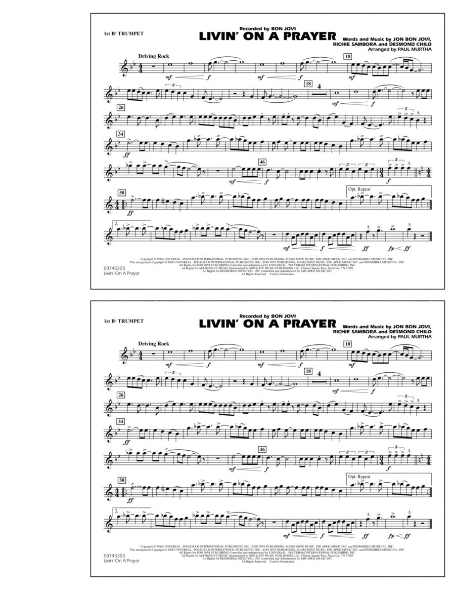 Livin' on a Prayer - 1st Bb Trumpet