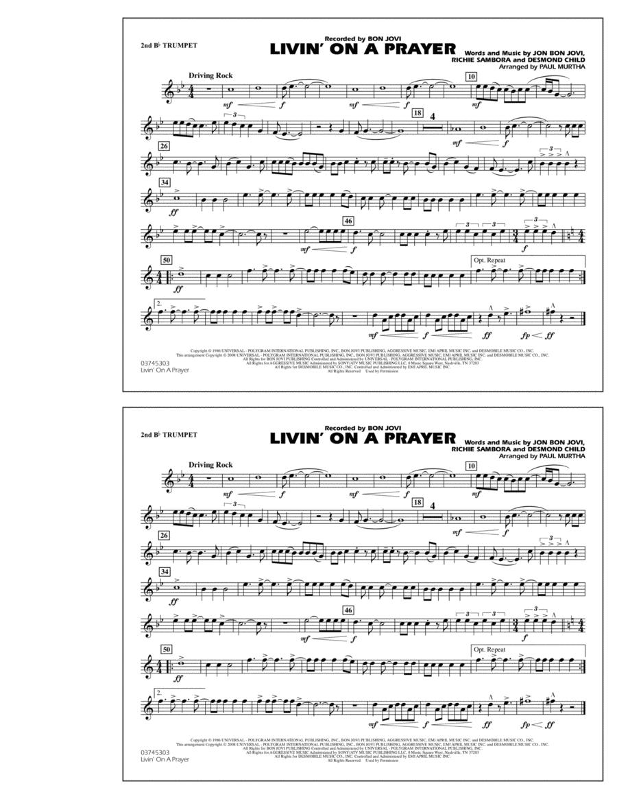 Livin' on a Prayer - 2nd Bb Trumpet