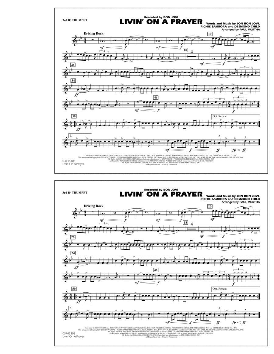 Livin' on a Prayer - 3rd Bb Trumpet