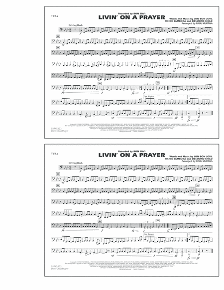 Livin' on a Prayer - Tuba