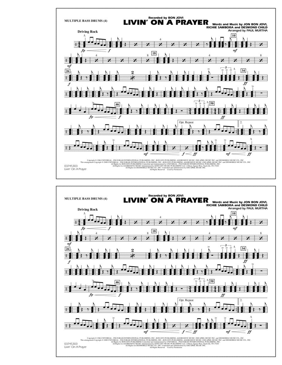 Livin' on a Prayer - Multiple Bass Drums