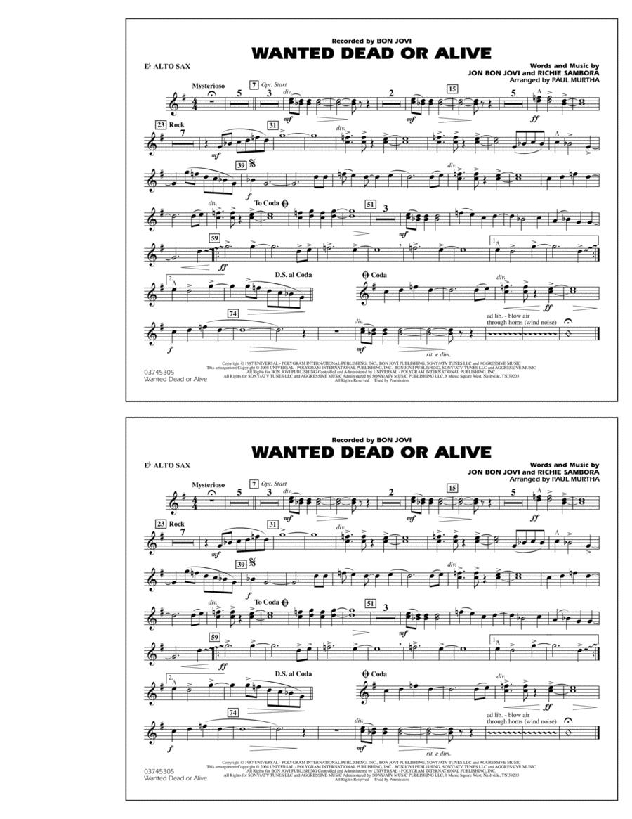 Wanted Dead or Alive - Eb Alto Sax
