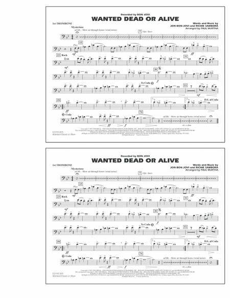 Wanted Dead or Alive - 1st Trombone