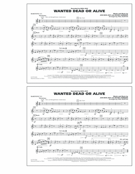 Wanted Dead or Alive - Baritone T.C.