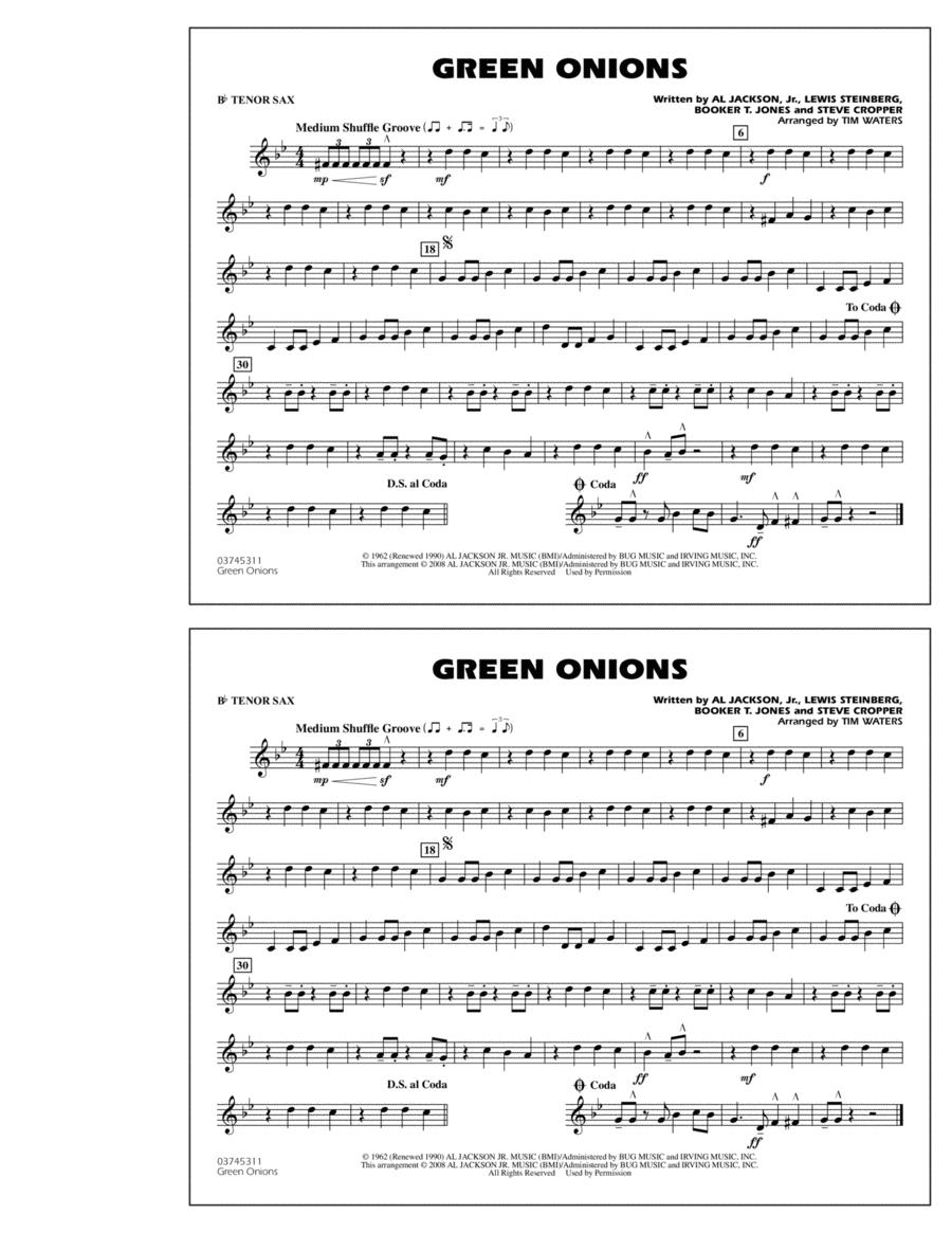 Green Onions - Bb Tenor Sax