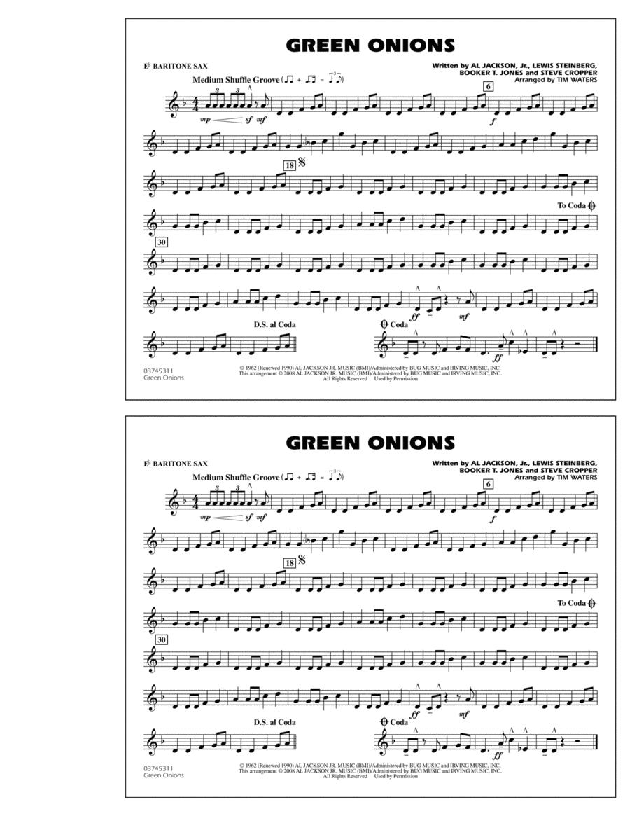 Green Onions - Eb Baritone Sax
